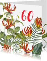 Verjaardagskaarten - Verjaardag rode bloemen