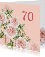 Verjaardagskaarten - Verjaardag romantische rozen