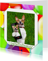 Verjaardagskaarten - Verjaardag selfie Uni RB