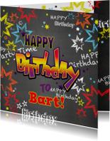 Verjaardagskaarten - Verjaardag stoere felicitatie in graffiti stijl
