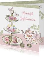 Verjaardagskaarten - Verjaardag taartenstandaard