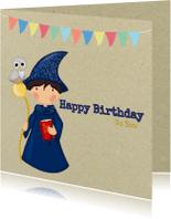 Verjaardagskaarten - Verjaardag Tovenaartje