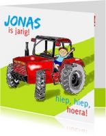 Verjaardagskaarten - Verjaardag tractorjongetje