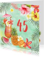 Verjaardagskaarten - Verjaardag tropische cocktail
