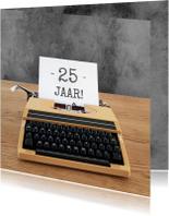 Verjaardagskaarten - Verjaardag -Typemachine leeftijd
