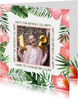 Kinderfeestjes - Verjaardag/uitnodigingkaart Tropical - WW