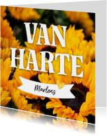 Verjaardagskaarten - Verjaardag - zomerse zonnebloemen