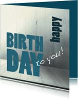 Verjaardagskaarten - Verjaardagkaart Happy Birthday Hout 2 - SG