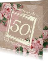 Uitnodigingen - Verjaardagsfeest kraftprint roos