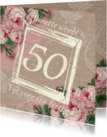 Verjaardagsfeest kraftprint roos