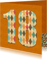 Verjaardagskaarten - Verjaardagskaart 18 Jaar classic