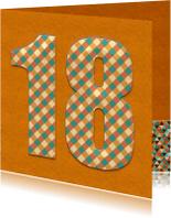 Verjaardagskaarten - verjaardagskaart 18 Jaar vintage