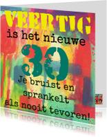 Verjaardagskaarten - Verjaardagskaart 40 jaar IW
