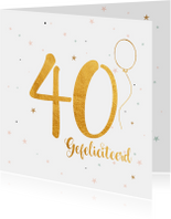 Verjaardagskaarten - Verjaardagskaart 40 jaar
