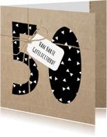 Verjaardagskaarten - Verjaardagskaart 50 jaar Touw