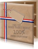 Verjaardagskaarten - Verjaardagskaart Adventure Box Deluxe
