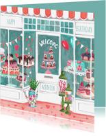 Verjaardagskaarten - Verjaardagskaart Banketbakker Illustratie