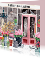 Verjaardagskaart Bloemenwinkel