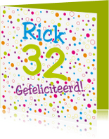 Verjaardagskaarten - Verjaardagskaart bolletjes - SZ