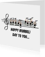 Verjaardagskaart Bubbels