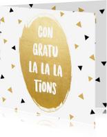 Verjaardagskaarten - Verjaardagskaart Congratula-la-lations