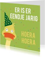 Verjaardagskaart eend jarig ME