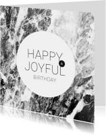 Verjaardagskaarten - Verjaardagskaart engels marmer