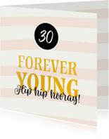 Verjaardagskaarten - Verjaardagskaart forever young leeftijd