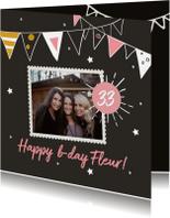 Verjaardagskaarten - Verjaardagskaart foto slinger