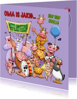 Verjaardagskaarten - Verjaardagskaart grappige beesten - HE