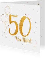 Verjaardagskaarten - Verjaardagskaart happy 50 jaar