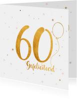 Verjaardagskaarten - Verjaardagskaart happy 60 jaar