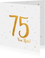 Verjaardagskaarten - Verjaardagskaart happy 75 jaar
