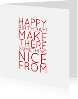 Verjaardagskaarten - verjaardagskaart happy b - LB
