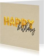 Verjaardagskaarten - Verjaardagskaart happy birthday ballonnen