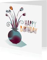 Verjaardagskaarten - Verjaardagskaart Herfst Bloemen