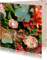 Verjaardagskaarten - Verjaardagskaart herfstbloemen a