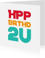 Verjaardagskaarten - verjaardagskaart HPP2U -LB