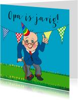 Verjaardagskaarten - Verjaardagskaart jarige Opa PA