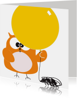 Verjaardagskaarten - Verjaardagskaart kind met ballon van Mo Cards