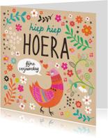 Verjaardagskaarten - Verjaardagskaart kleurige vogel