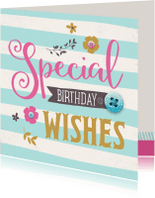Verjaardagskaarten - Verjaardagskaart Knoop