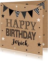 Verjaardagskaarten - Verjaardagskaart kraft slinger