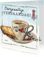 Verjaardagskaarten - Verjaardagskaart Lang Leve de Boerderij Kopje Koffie