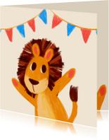 Verjaardagskaarten - Verjaardagskaart leeuwtje