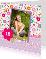 Verjaardagskaarten - Verjaardagskaart Lente Bloemen