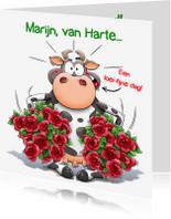 Verjaardagskaarten - Verjaardagskaart loei-koe - HE