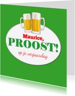 Verjaardagskaarten - Verjaardagskaart man bier - SZ