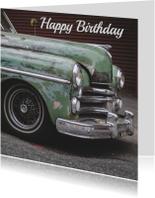 Verjaardagskaarten - Verjaardagskaart man retro auto