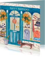Verjaardagskaarten - Verjaardagskaart mannen winkel